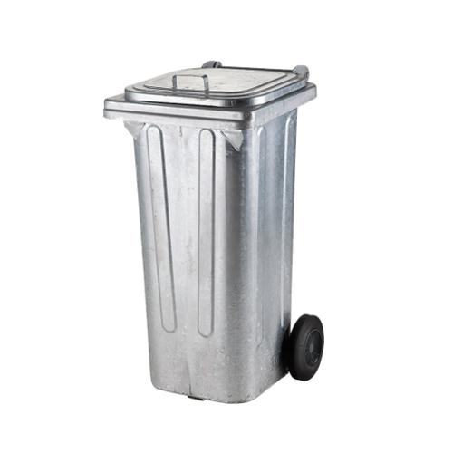 Wszystkie nowe Pojemniki na odpady | Pojemnik na śmieci metalowy z kółkami 120 l AI43